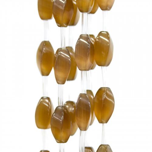 Scatola Regalo Fiaba Carta Rilievo Perlato Fiocco Arancio 12x16x3,0cm 6pz