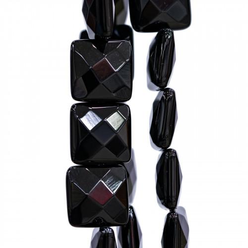 Componente Di Resina E Madreperla Ovale Creola 60x85mm 4pz Nero E Multicolor