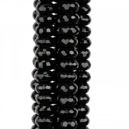 Componente Di Resina E Madreperla Tondo Ciambella 68mm 4pz Trasparente E Giallo