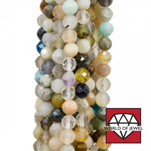 Giada Smeraldite Ovale Piatto Sfaccettato 30x65mm