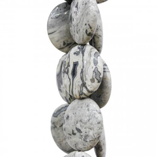 Goccia Di Ceramica Con Strass Mideast Mezzoforo 11x18mm 16pz - Bianco/Rosso