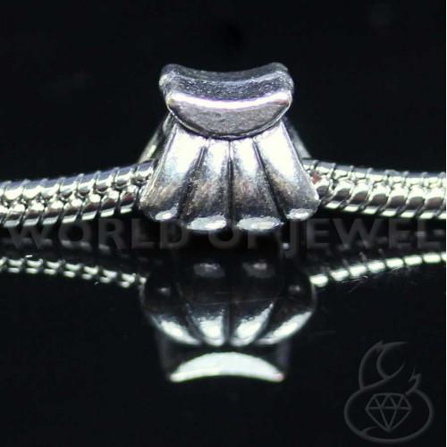 Orecchini Di Perle Di Fiume E Ottone 8mm 6 Paia - Grigio