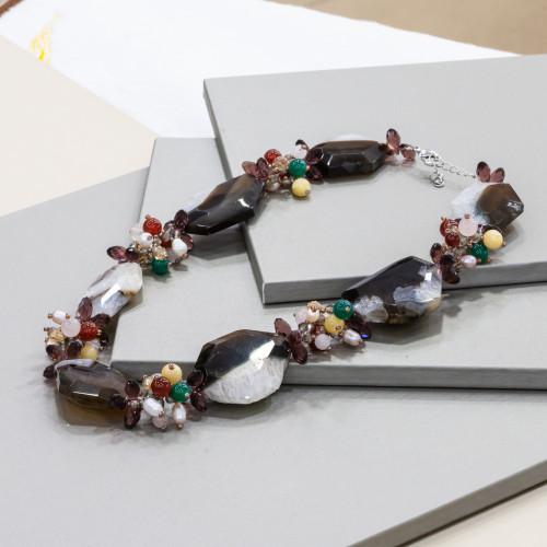 Perle di Fiume 1 Foro Tonde (AAAAA) 10,0-10,5mm 6 Paia Rosa