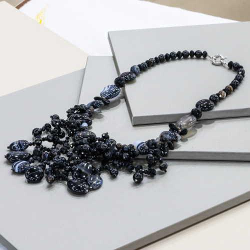 Perle di Fiume 1 Foro Tonde (AAAAA) 9,5-10,0mm 12 Paia Bianco