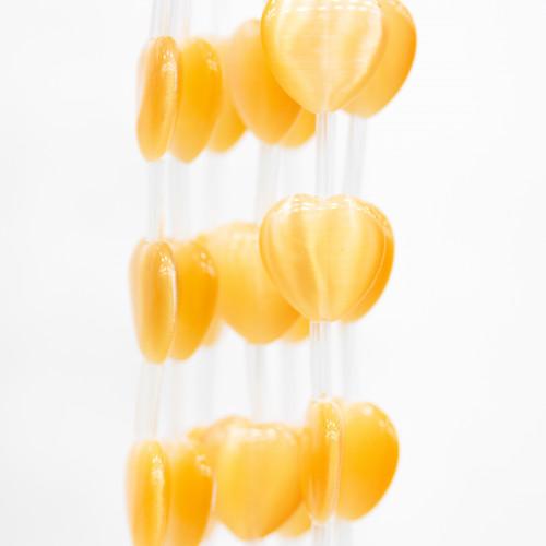 Coppette Di Argento 925 Traforate Fiore 6 Petali 04mm Dorato Con Passivazione 5 Grammi 100pz