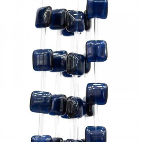 Scatola Regalo Fiaba Carta Rilievo Perlato Fiocco Blu 12x16x3,0cm 6pz