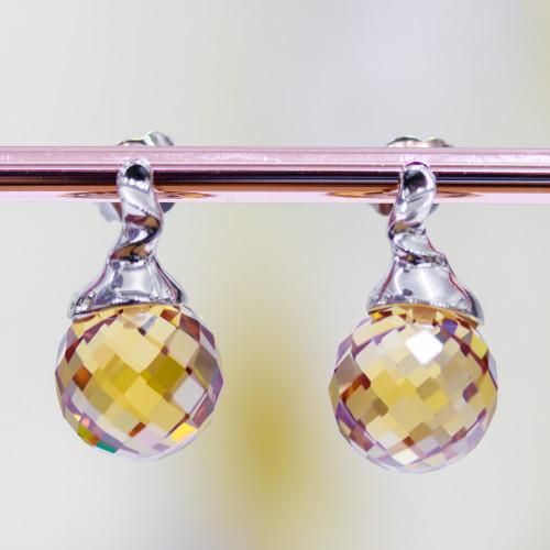Pendente Di Argento 925 Con Perle Di Fiume 25mm