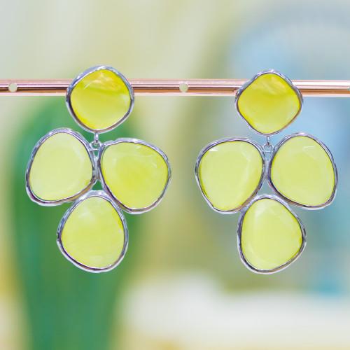 Componente Di Argento 925 Piastra Stella 14mm 10pz Rodiato