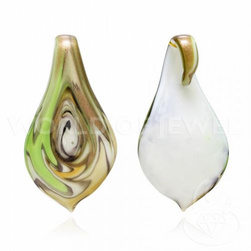 Perline a Filo Di Marcasite Strass Con Giada Celeste Gocce Briolette Sfaccettate 10x25mm 10pz