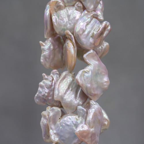Giada Smeraldite Riso Sfaccettato 15x20mm