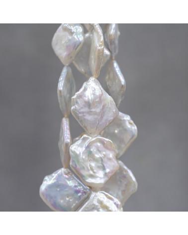Perle Di Fiume Tondo 9,5-10,0mm A Multicolor Rigato