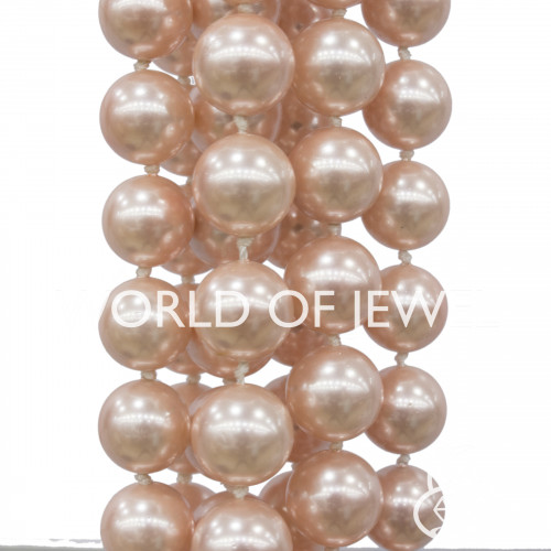 Opale Bianco Tondo Liscio 17mm
