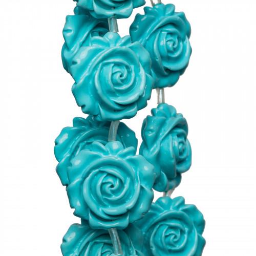 Pasta di Corallo Rosa Chiaro Synt Tondo Liscio 04mm