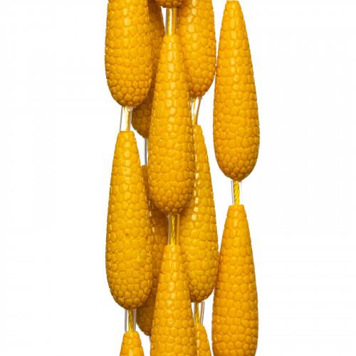 Giada Arancio Rondelle Sfaccettate 4x3mm