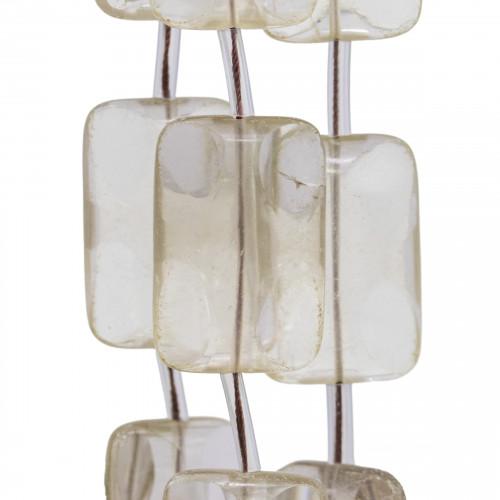 Perline a Filo Di Marcasite Strass Gocce 10x28mm 9pz Dorato