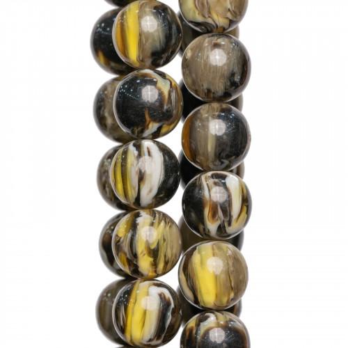 Perle di Maiorca Grigio Argentato Tondo Liscio 12mm