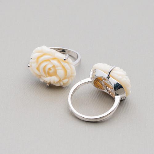 Perle di Fiume 1 Foro Tonde (AAAA) 7,5-8,0mm 12 Paia Grigio