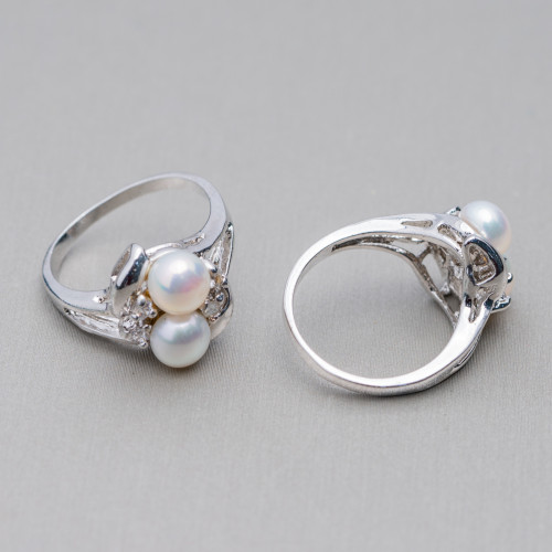 Perle di Fiume Bottoni Cabochon1 Foro 8,0-8,5mm 30 Paia Rosa
