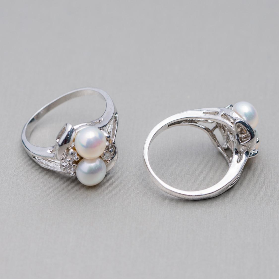 Perle di Fiume Bottoni Cabochon 1 Foro (A) 8,0-8,5mm 30 Paia Rosa