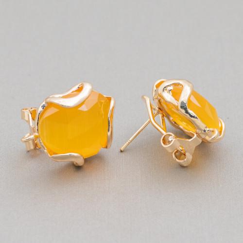Perle di Fiume Bottoni Cabochon 1 Foro (A) 3,5-4,0mm 100 Paia Bianco