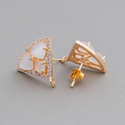Angelite Gocce Briolette Sfaccettate 12x50mm