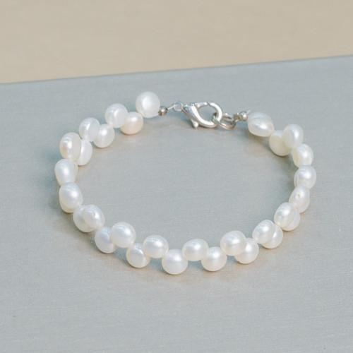 Perle di Maiorca Bianca Barocca 13x16mm