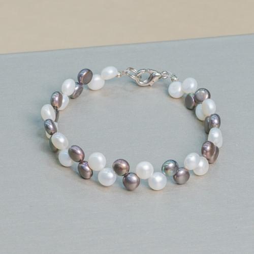 Perle di Maiorca Bianca Caramella 15x12mm