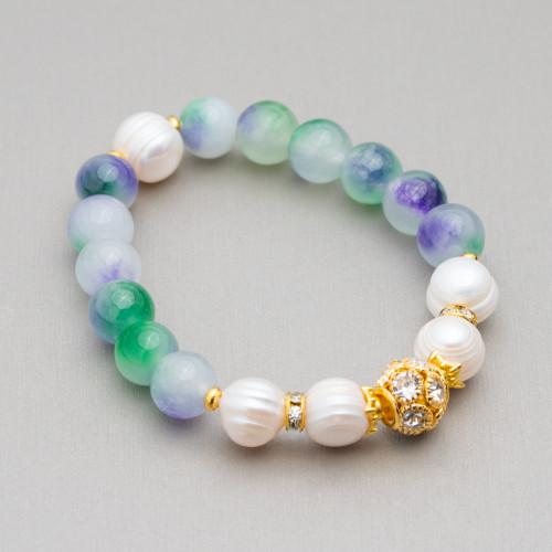 Perle Di Fiume Tondo 3,0-3,5mm AAAA Bianco