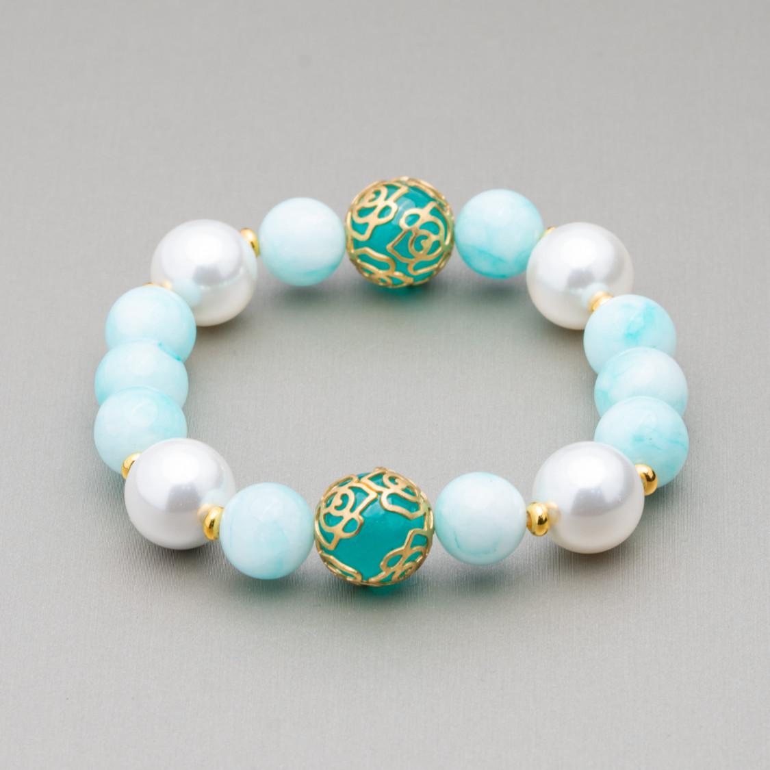 Perle Di Fiume Tondo 3,5-4,0mm AAAA Bianco