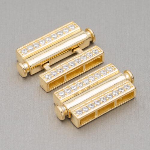 Perle Di Fiume Barocche 120-130gr Bronzo - Lilla 16-19x25-33mm