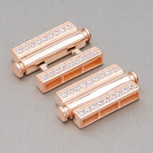 Perle Di Fiume Barocche 120-135gr Bianco - Bronzo 16-19x22-30mm