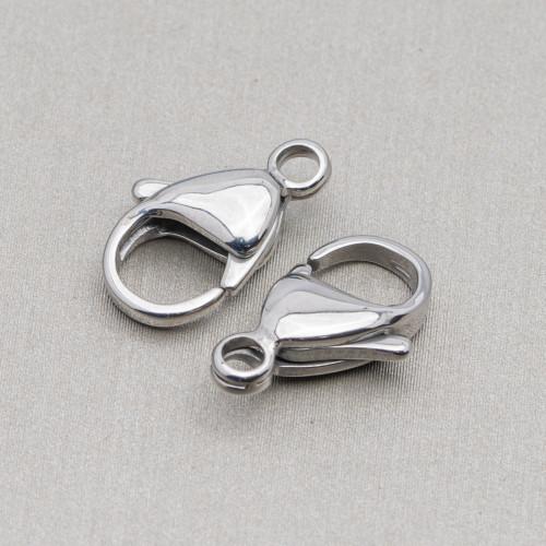 Componente Di Argento 925 Con Zirconi Stella Di Davide Con 2 Anellini 15,5x18mm 4pz Oro Rosa