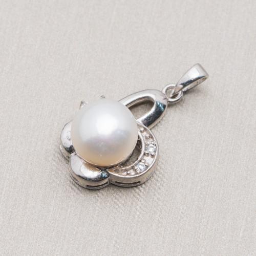 Perle di Fiume Bottoni Cabochon 1 Foro (A) 3,5-4,0mm 100 Paia
