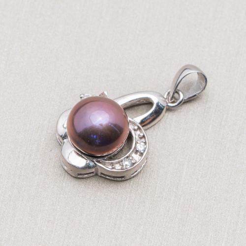 Perle di Fiume Bottoni Cabochon 1 Foro (A) 4,0-4,5mm 100 Paia