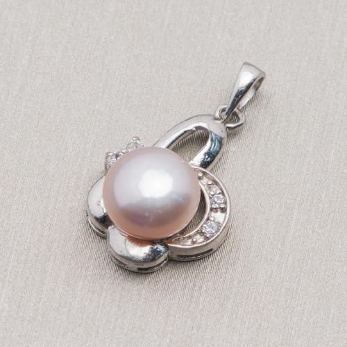 Perle di Fiume Bottoni Cabochon1 Foro 5,0-5,5mm 80 Paia Bianco