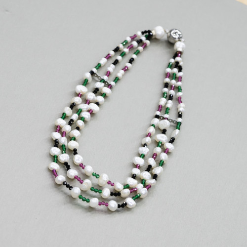 Perle Di Fiume Tondo 5,5-6,0mm Lungo AA2