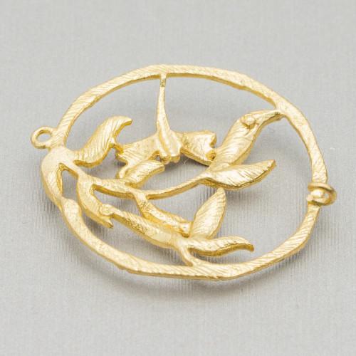 Base Per Orecchini Di Argento 925 Con Zirconi Monachella Quadrifoglio 10,0x17,0mm 2 Paia Oro Rosa