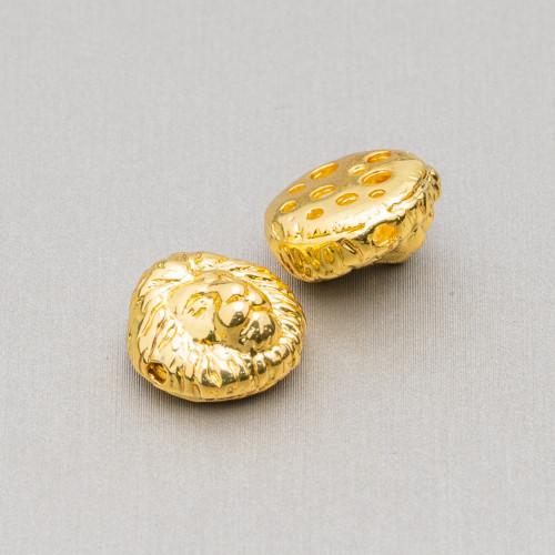 Distanziatore Di Argento 925 Con Zirconi Palline 10mm 4pz Oro Rosa Con Cristalli Ruby