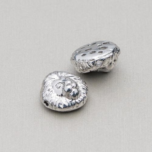 Distanziatore Di Argento 925 Con Zirconi Palline 10mm 4pz Oro Rosa Con Cristalli Zaffiro