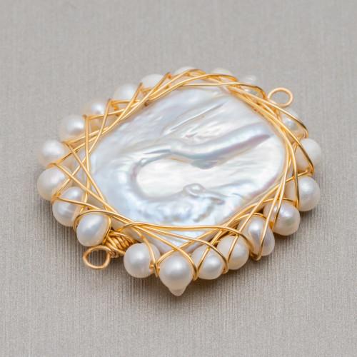 Perline a Filo Di Marcasite Strass Con Giada Rubellite Gocce Briolette Sfaccettate 16x24mm 8pz