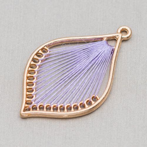 Agata Fuoco Blu Violetto Piastra Piatto Sfaccettato 35x38mm