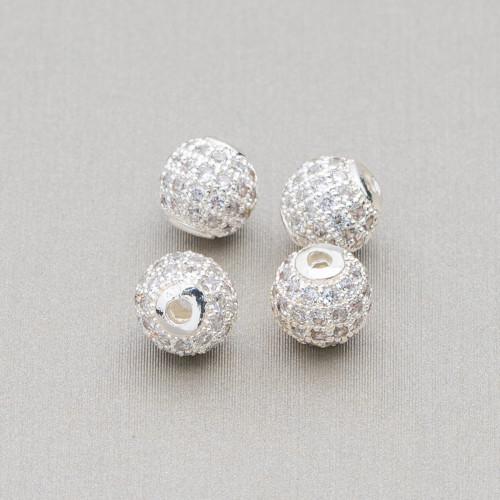 Collana Di Cristalli Rondelle Sfaccettate Con Chiusura Dorata 42-47cm Nero Grigio