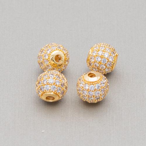 Collana Di Cristalli Rondelle Sfaccettate Con Chiusura Dorata 42-47cm Verde Sabbia