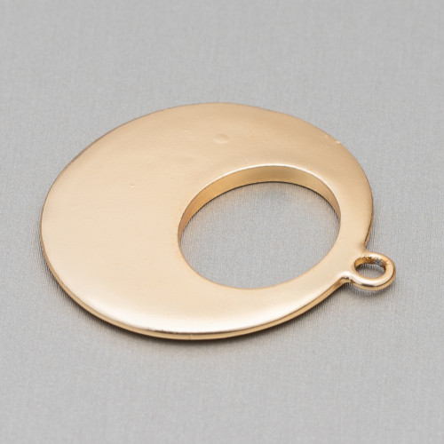 Componente Di Giadeite Incisa 50-65mm Bordato Oro