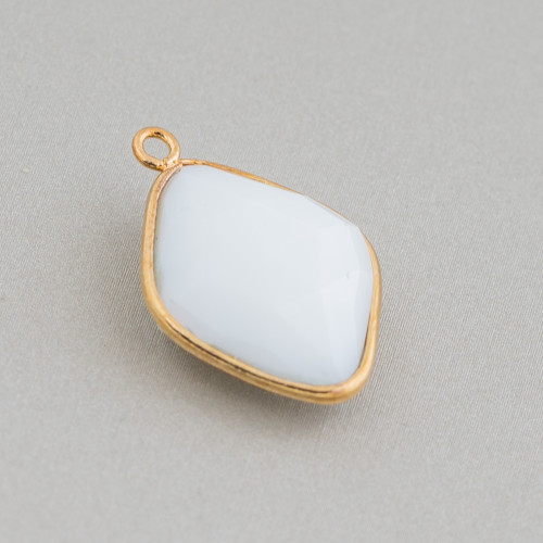 Perline a Filo Di Marcasite Strass Perle Di Maiorca Gocce 13x21mm 8pz Oro
