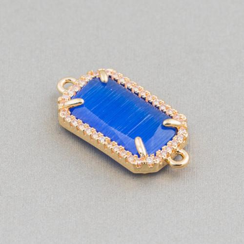 Perline a Filo Di Marcasite Strass Con Cristalli Gocce Briolette Sfaccettate 19x25mm 8pz Arcobaleno