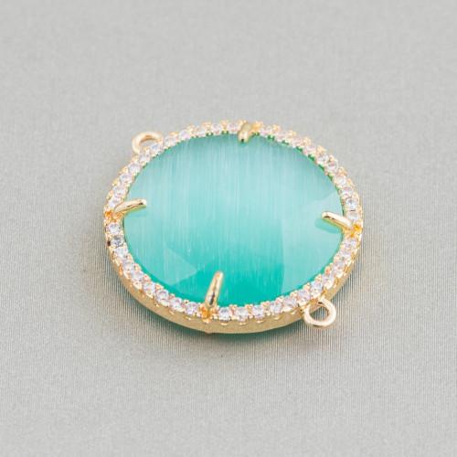 Perline a Filo Di Marcasite Strass Con Cristalli Gocce Briolette Sfaccettate 19x25mm 8pz Topazio Giallo