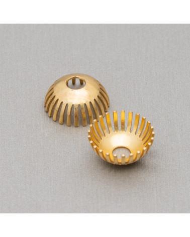 Agata Fossile Sfaccettato 14mm