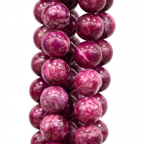 Bracciale Di Perle Di Fiume 11mm E Quarzo Fragola Con Elementi Di Ottone Dorati