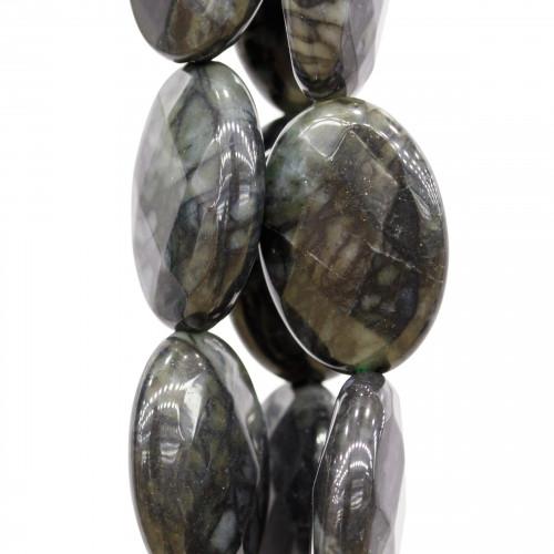 Bracciale Con Elemento Centrale Con Strass Pave' E Giada Verde Da 12mm E Perle Di Fiume A 2 File